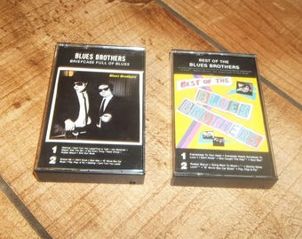 The BLUES BROTHERS  2 Cassette Tape Set for your Sony Walkman, Best Of, Briefcase Full Of Blues, John Belushi, Dan Akroyd, Soul Man