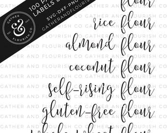 100 Pantry Labels Bundle SVG Files, Pantry Labels Cut Files, Pantry Labels, Farmhouse SVG, Kitchen SVG