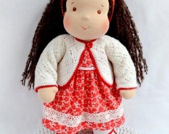"""14 """"(36 cm) Waldorf doll. Steiner doll-cloth doll-handmade doll-soft doll-waldorfpuppe-organic rag doll- girls gift"""