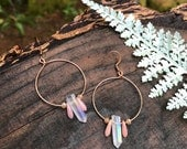 Crystal Earrings - Blush Quartz