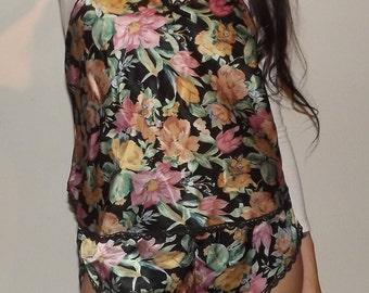 floral silky set
