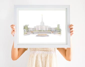 Idaho Falls Temple, Idaho Falls LDS Temple, Idaho Falls, LDS Temple, Temple Idaho Falls, Idaho Temple, Idaho Falls Art, LDS Art, Temple Art