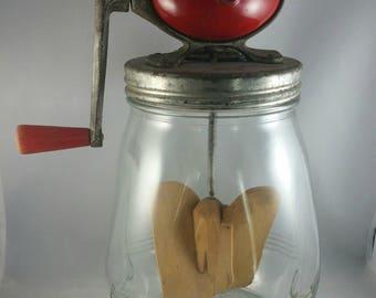 Vintage Dazey No. 4 Butter Churn, 4 Quart Football Oval Top Butter Churn