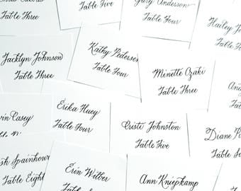 Linen Wedding Place Cards