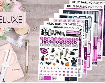 Moonlit Frights, Deluxe Weekly Kit, Planner Kit, Planner Stickers, Erin Condren, Life Planner, Vertical Planner, EC, K026