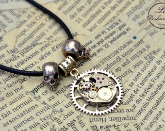 """Steampunk men necklace / mixed """"Mortys"""""""