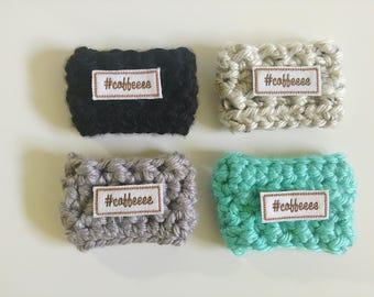 Crochet #Coffeeee Coffee Mug Cozy