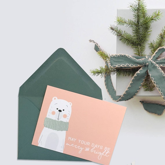 Winter Woodland Christmas Cards - 4 Pack