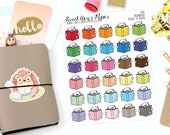 Reading Planner Stickers - Study Planner Stickers - Cat Planner Stickers - Doodle Planner Stickers - Hand Drawn - 1198