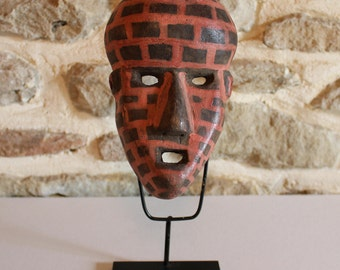 Unusual African Mask from Mali . Decorative painted patina