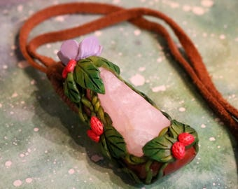 Faerie Rose Quartz Necklace