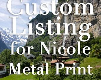 CUSTOM ORDER for NICOLE: Switzerland Art Metal Print, Lauterbrunnen, Swiss Village, Mountain and Waterfall, Nature Photo, Swiss Landscape
