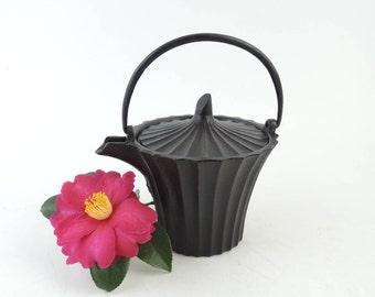 Vintage Japanese Cast Iron Sake Pot, Choushi, Nambu Tetsubin