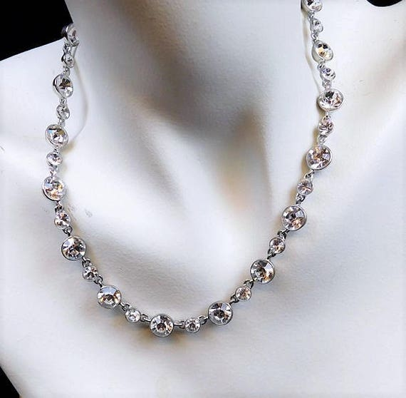 GIVENCHY Crystal Necklace / Designer / Couture / 16""