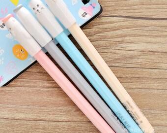 Lovely Bear Pens / Cute Bear Pens / Kawaii Bear Pens / Cute Pens / Kawaii Pens / Cute Planner Pens / Cute Gel Pens / Kawaii Gel Pens