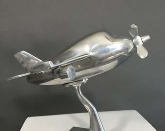 Stainless steel model airplane