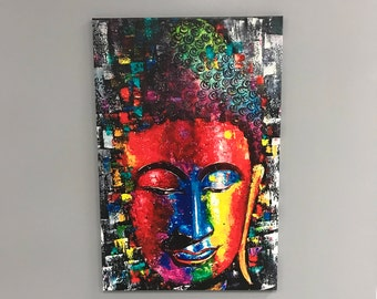 Buddha, abstract, unique, vibrant colors