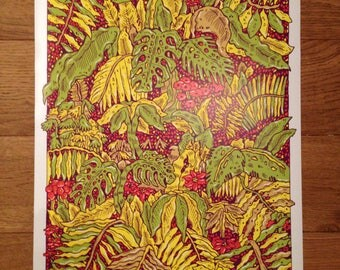 A2 Botanical print