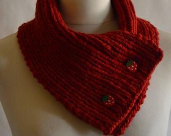 Strawberry Scarf // 100% rustic merino wool