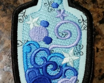 Potion bottle iron on patch