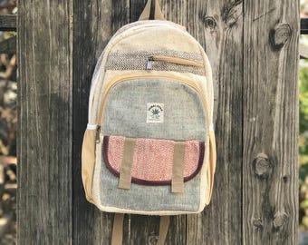 Premium Pure Hemp Durable backpack, Handmade in Himalayas