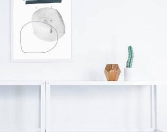 Abstract 1 Art Print | digital collage | abstract Wall Art | minimal abstract artwork Print  | Black Gray