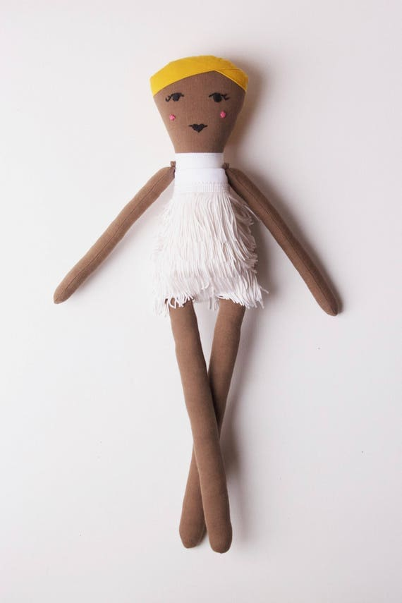 Queen of Rock n' Roll Tina Turner Cloth Doll: Handmade with eco-friendly materials OOAK