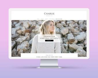 SALE! Charlie | Responsive Minimalist Premade Blogger Template