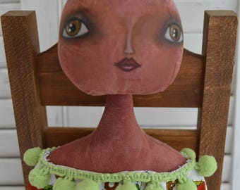 TULA - Primitive Folk Art Tomato Doll