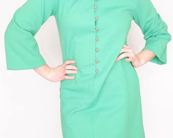 60's Mod Green Day Dress