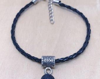 Leather Bracelet | Lava Rock Bracelet | Diffuser Jewelry | Men's Bracelet | Women's Bracelet | Gifts