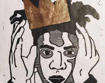 Jean-Michel Basquiat Linocut Print