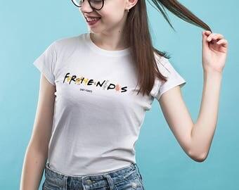 Vegan shirt Friends TV Show Vegetarian shirt Friends tv shirt Friends sitcom Friends TV show shirt Friends not food shirt Printed tee YP129