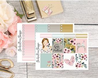 Pretty Girls Weekly Kit Planner Stickers - For Erin Condren Life Planner