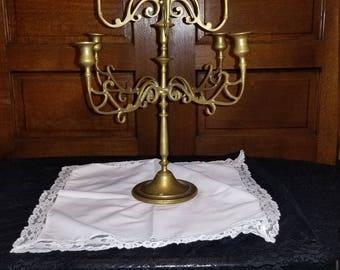Beautiful 9 arm Brass vintage candelabra taper candle holder gold
