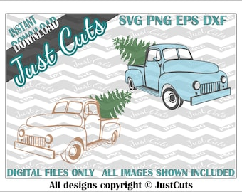 Christmas Tree Truck SVG, eps, png, dxf, Christmas, Tree, Truck, SVG files, Christmas svg files, truck svg, holidays, pickup, cut files