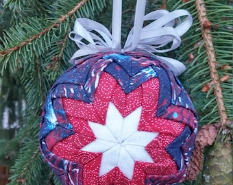Americana Ornament-Quilted Look