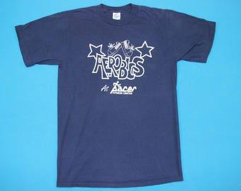 90s Aerobics T-Shirt ~ M // Vintage, Work Out, Dance, Fitness, Athletic, Gym, 1990s, Blue, Tee, Medium