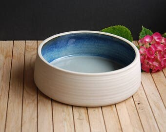 Stoneware ceramic bowl interior glazed