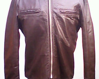 Excelled Leather Cafe Racer Motorcycle Jacket.