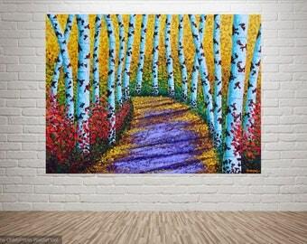 "Living Room ARTWORK | Living Room Wall Art | Acrylic Artwork | Wall Art Painting | Living Room Art Painting | Wall Art ""A purple trail"""