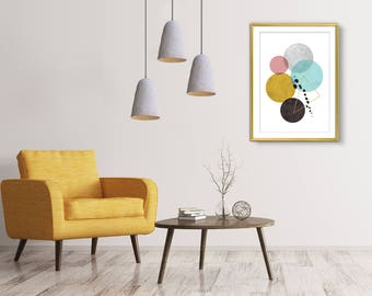 Wall art, Wall Art Print, Abstract art, Bedroom wall art, Living room art, Minimalist art, Geometric print, Brown and gold print, Printable