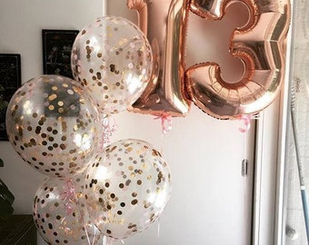 "Giant 34"" Rose Gold Balloon Numbers/ Rose Gold Number Balloons/ XL Number Balloons/ Rose Gold Balloons/ Rose Gold Birthday Party"