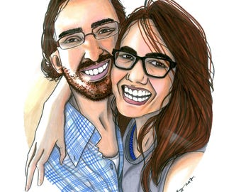 Modern Realistic Custom Portrait,Couple's Portrait,Family Portrait,Valentine Gift,Birthday Gift,Original Artwork,Wedding Invitation,Wall Art