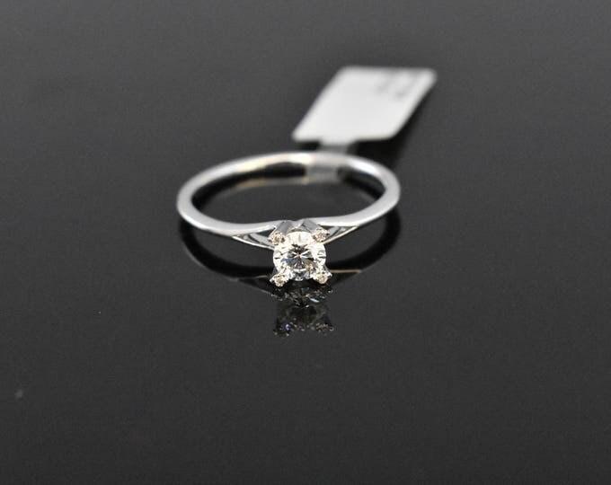 18K White Diamond Solitaire | GIA Certified Diamond | Engagement Ring | Wedding Ring | Handmade Fine Jewelry | Bridal Ring