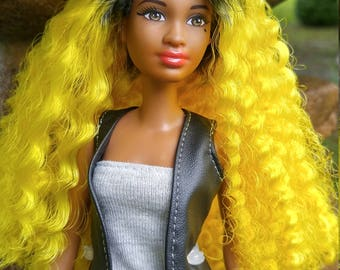 OOAK AA Barbie Fashionista w/ Ombre Hair