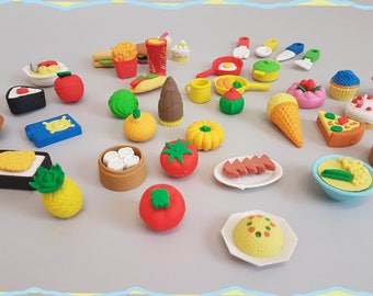 Set of Cute Kawaii Erasers Rubbers Choose Your Favourite!