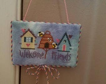 Welcome Friends Doorknob Hanger