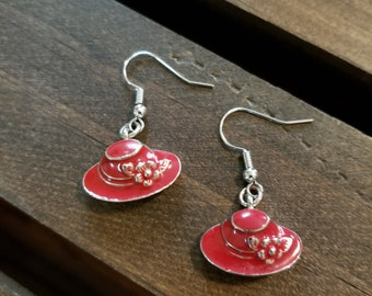 Red Hat Ladies Society Earrings Set. FREE SHIPPING!! EE24