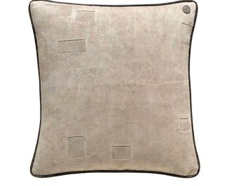 "Antique German Grain Sack Pillow from the early 1900s -  20"" x 20"""